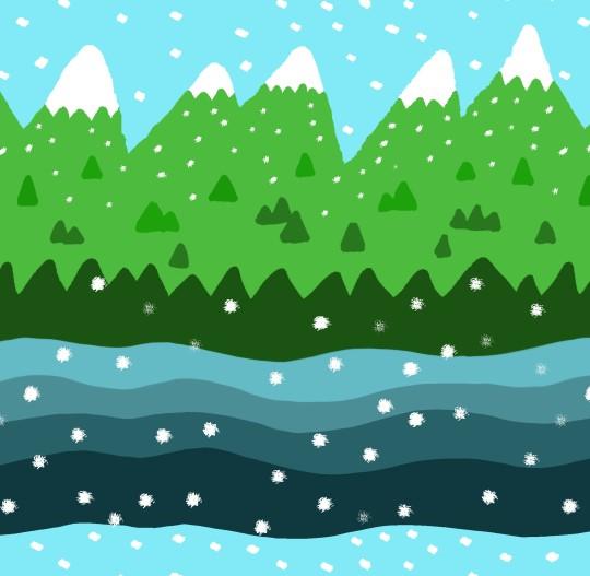 snowy alps by kate austin designs
