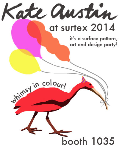 kate austin designs- booth 1035 at Surtex 2014