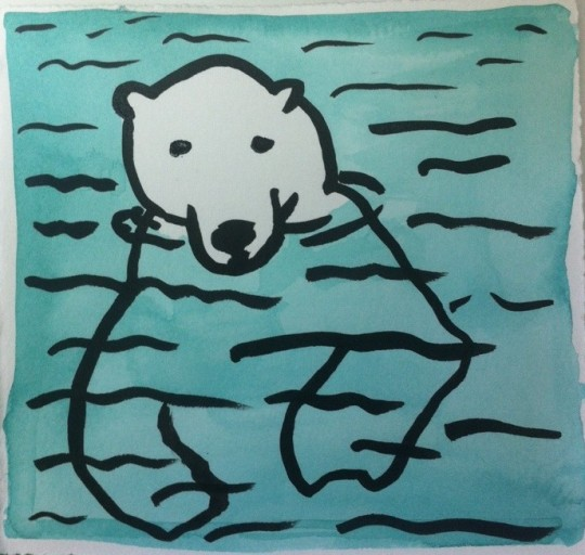 polar bear by kate austin