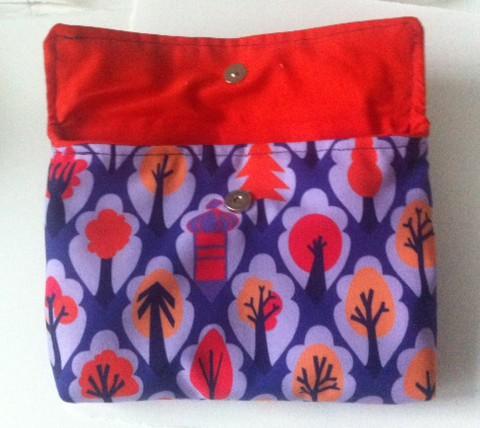 "Open bike handlebar bag in  ""park"" fabric by kate austin designs"
