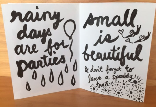 rainy days are for parties. small is beautiful. don't forget to leave a sparkly trail. Advice from a Snail by kate austin